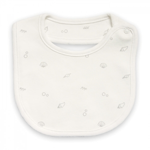 Deux Filles有機棉嬰兒圍兜-灰色貝殼