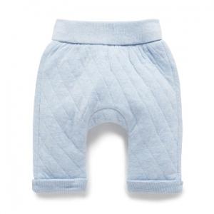 Purebaby有機棉鋪棉褲-藍色混色
