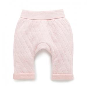 Purebaby有機棉鋪棉褲-粉色混色