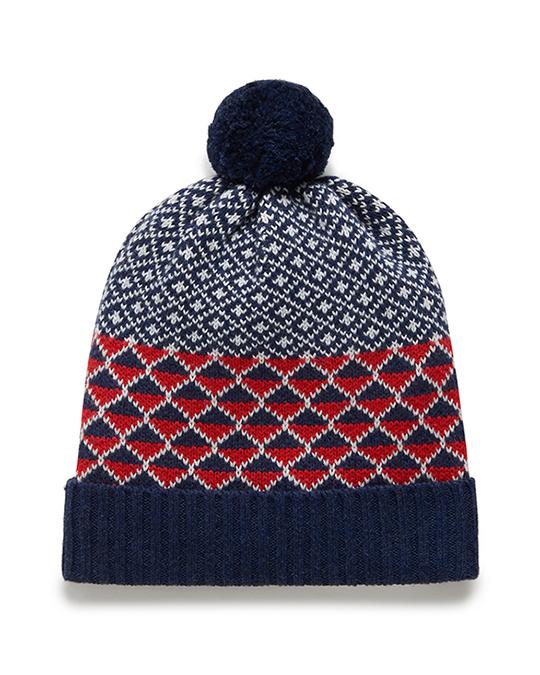 Purebaby有機棉圖騰針織帽