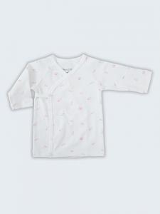 Deux Filles有機棉側開襟肚衣-粉紅貝殼