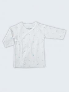 Deux Filles有機棉側開襟肚衣-藍色貝殼