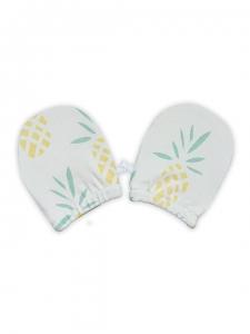 Deux Filles有機棉嬰兒手套-鳳梨圖案