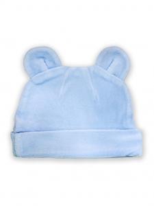 Deux Filles有機棉棉絨造型帽-淺藍純色