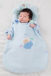 妖精之森-嬰兒睡袋-藍色小熊