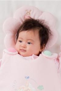 妖精之森-嬰兒睡枕-粉紅小兔