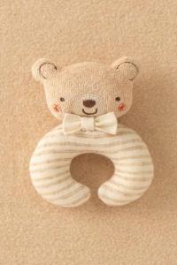 Amorosa Mamma有機棉手搖鈴-棕色小熊