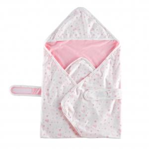 Deux Filles有機棉包巾 -小兔圖案