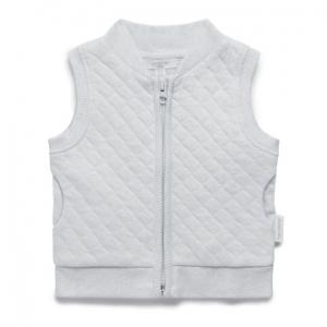 Purebaby有機棉保暖鋪棉背心-灰色混色