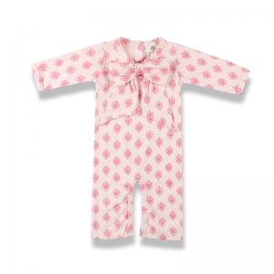 嬰兒連身裝正面-粉紅藝術