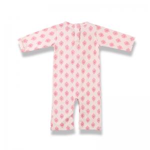 嬰兒連身裝背面-粉紅藝術