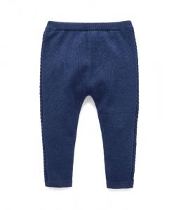Purebaby有機棉針織貼腿褲-12M~4T-深藍色