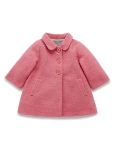 Purebaby羊毛大衣-粉紅色