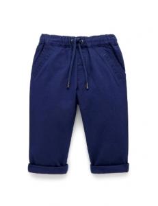 Purebaby有機棉長褲-藍色