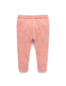 Purebaby有機棉針織貼腿褲-12M~4T-粉紅色