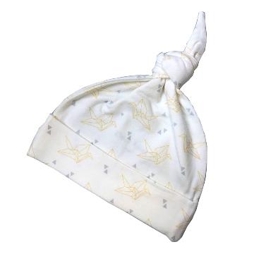 Deux Filles有機棉帶結嬰兒帽