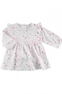 Deux Filles有機棉長袖洋裝包屁衣-粉紅兔