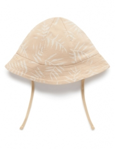 Purebaby 有機棉遮陽帽-粉綠