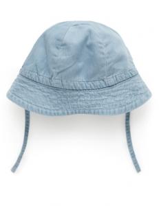 Purebaby 有機棉遮陽帽 -丹寧色