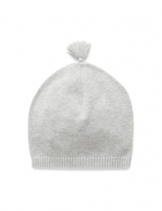 Purebaby 有機棉針織帽 -灰色