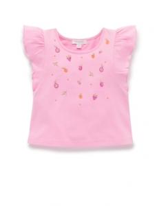 粉色水果刺繡