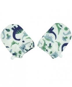 Deux Filles 有機棉嬰兒手套  -恐龍
