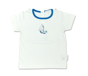 Purebaby有機棉短T-帆船印花
