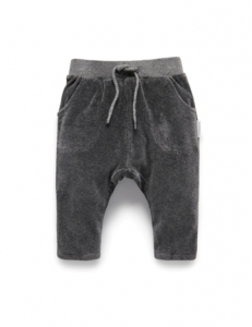 Purebaby有機棉絨布運動褲-12M~4T-灰色純色