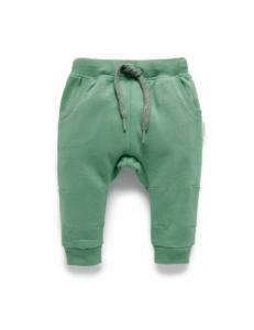 Purebaby有機棉刷毛褲子-12M~4T-軍綠色