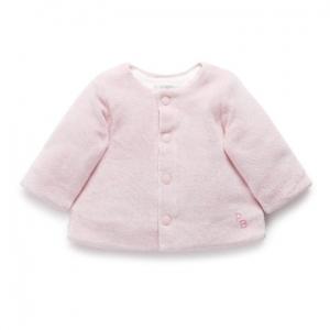 Purebaby有機棉嬰童絨面外套-粉色