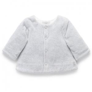 Purebaby有機棉嬰童絨布外套-灰色