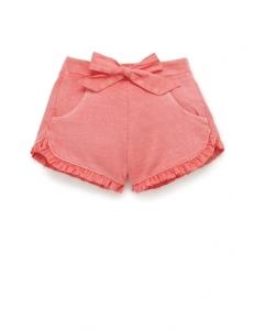 Purebaby 有機棉短褲-粉色