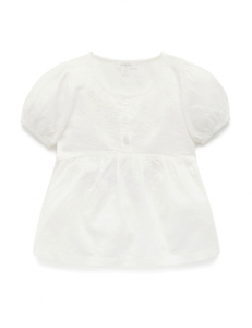Purebaby 有機棉上衣-白色