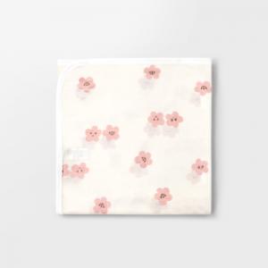 Merebe嬰兒包巾蓋毯-粉桃圖案