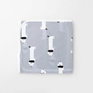 Merebe嬰兒包巾蓋毯-小狗圖案