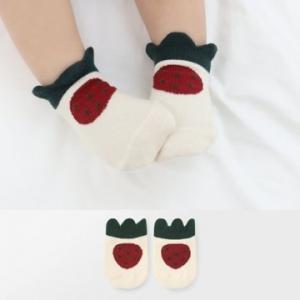 Merebe嬰童短襪-草苺圖案