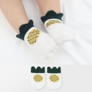 Merebe嬰童短襪-鳳梨圖案