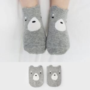 Merebe嬰童短襪-灰熊
