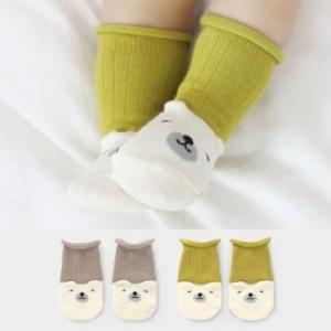 Merebe嬰童短襪 -淺褐