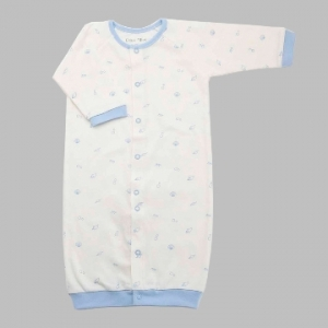Deux Filles有機棉兩用連身裝-藍色貝殼印花