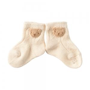 Amorosa Mamma-有機棉新生兒襪 -小熊圖案