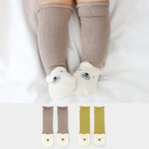 Merebe嬰童及膝襪-褐色