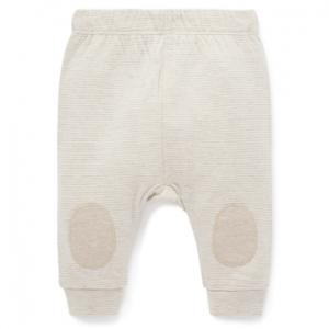 Purebaby 有機棉嬰童棉褲-米白色