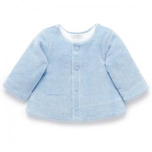 Purebaby有機棉嬰童絨面外套 -藍色