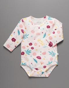 Little Green & Co 有機棉包屁衣-粉色花卉