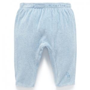 Purebaby有機棉嬰童絨布鋪綿褲-粉藍