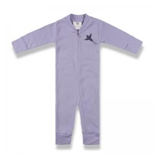 拉鍊式連身衣正面-淡紫
