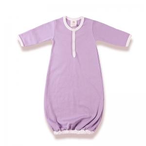 嬰兒睡袍正面-淡紫