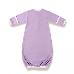 嬰兒睡袍背面-淡紫