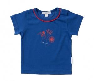 Purebaby  有機棉風箏圖印短T-純藍色